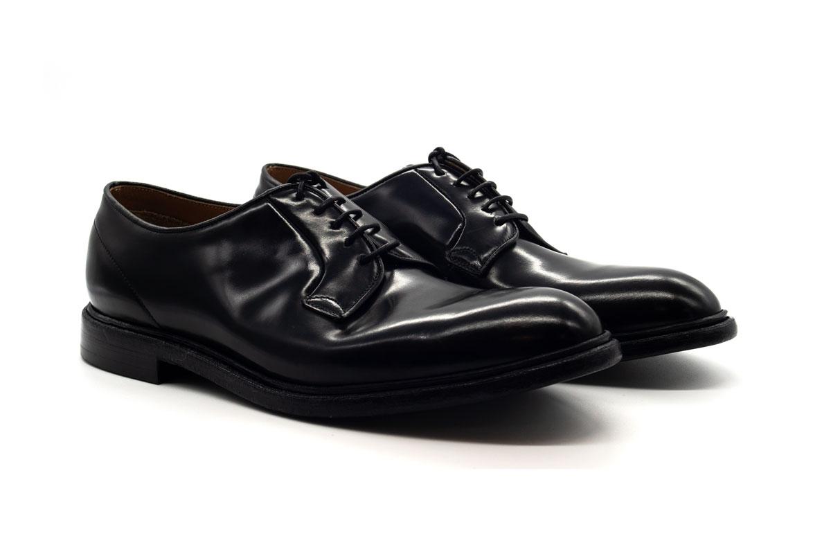 Scarpa derby in pelle nera